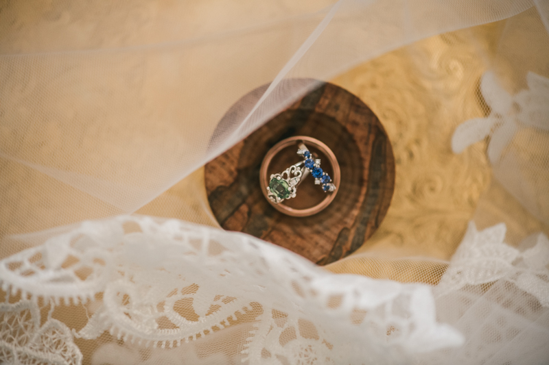 Industrial chic April wedding rings in Baltimore City's Radisson Hotel by Britney Clause Photography