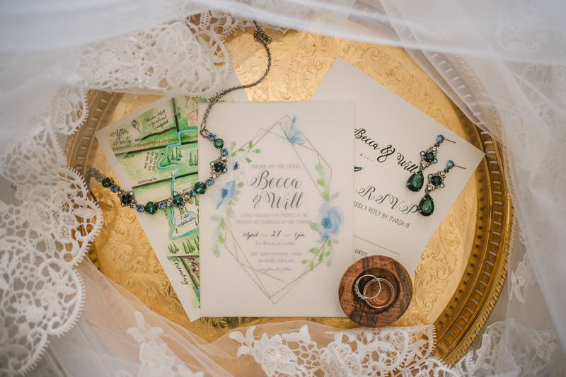 Industrial chic April wedding invitation suite in Baltimore City's Radisson Hotel by Britney Clause Photography