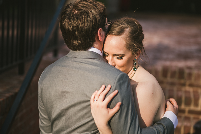 Industrial chic April wedding bride and groom portraits in Baltimore City at La Cuchara by Britney Clause Photography