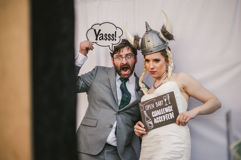 Industrial chic April wedding after party in Baltimore City at Union Mill Apartments by Britney Clause Photography