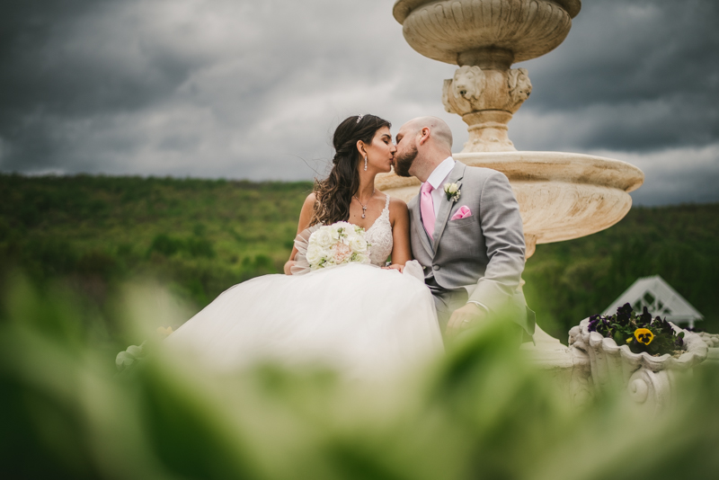 A beautiful stormy April wedding at Springfield Manor in Thurmont Maryland