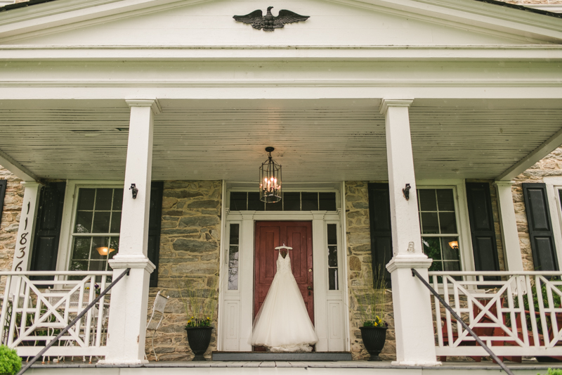 A beautiful stormy April wedding at Springfield Manor in Thurmont Maryland wedding gown from Cameo Bridal
