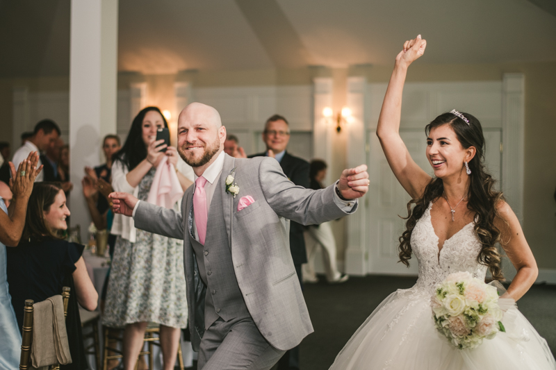 A beautiful stormy April wedding reception at Springfield Manor in Thurmont Maryland