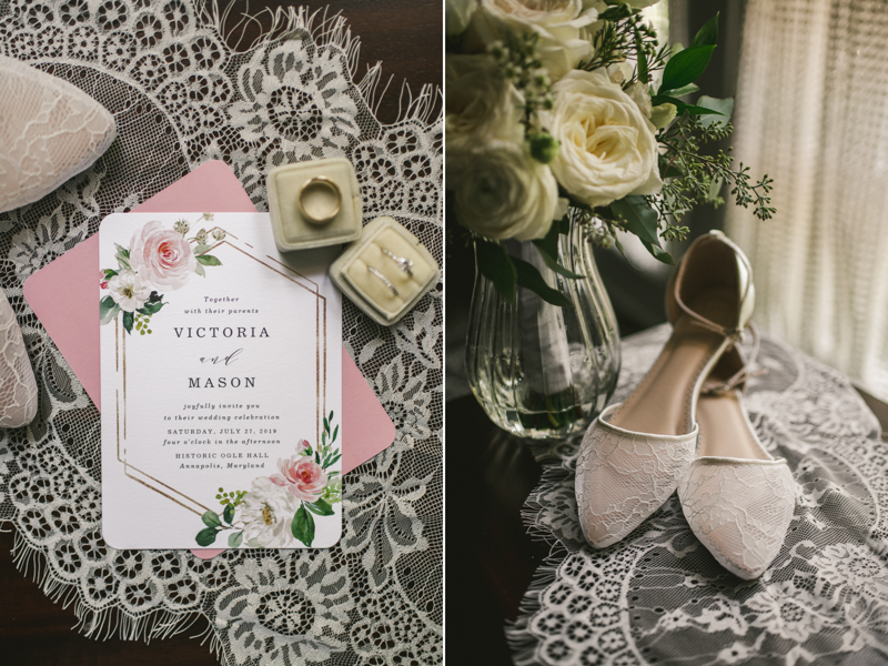 A beautiful July wedding stationery from Zazzle in Annapolis, by Britney Clause Photography, wedding photographers in Maryland