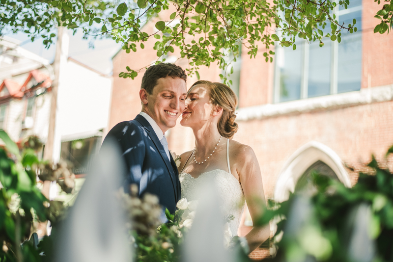 Summer wedding First Look in Downtown Annapolis by Britney Clause Photography, wedding photographers in Maryland