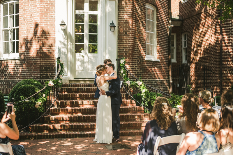 A July wedding ceremony at Historic Ogle Hall in Annapolis, by Britney Clause Photography, wedding photographers in Maryland