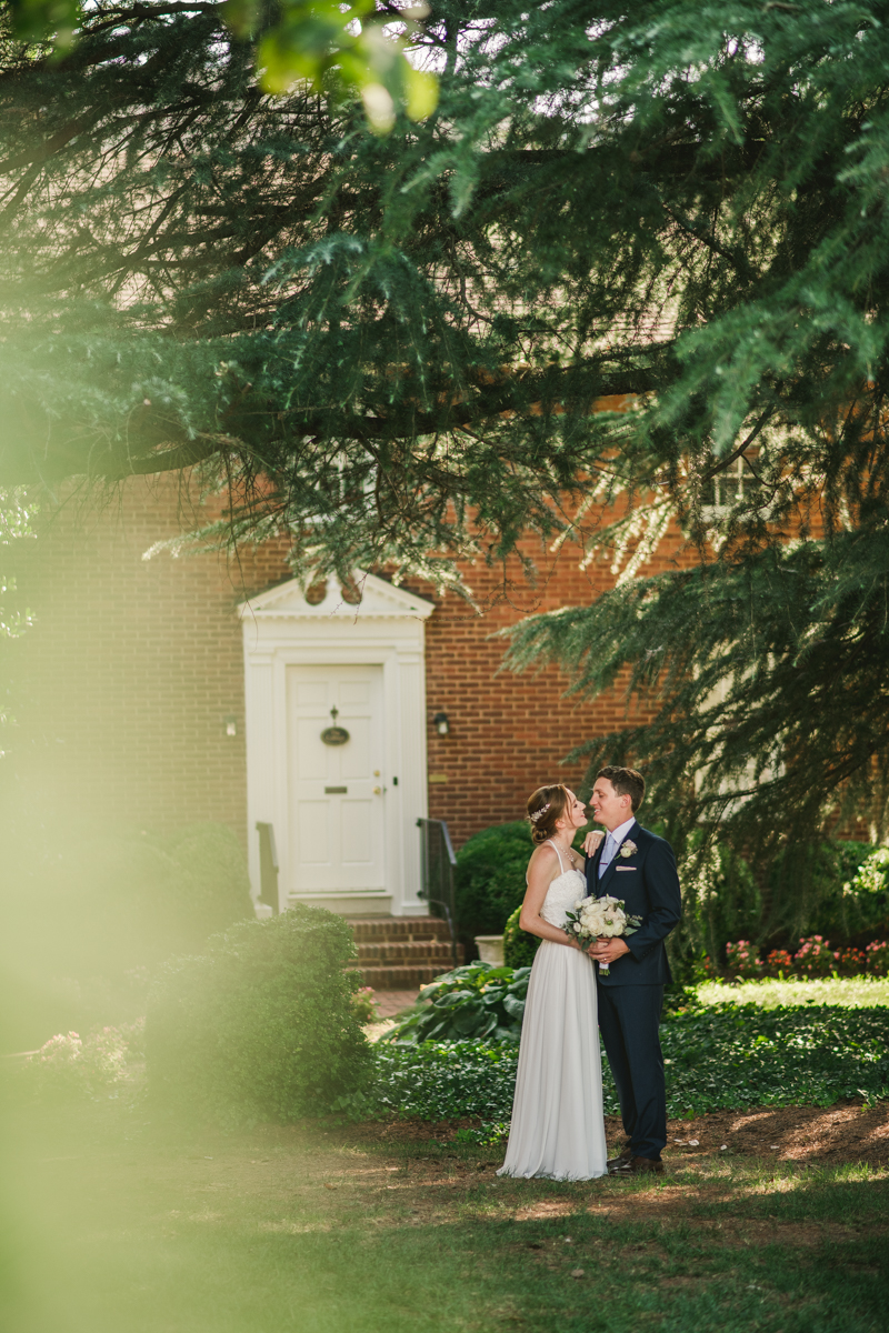 Summer wedding portraits at Historic Ogle Hall by Britney Clause Photography, wedding photographers in Maryland