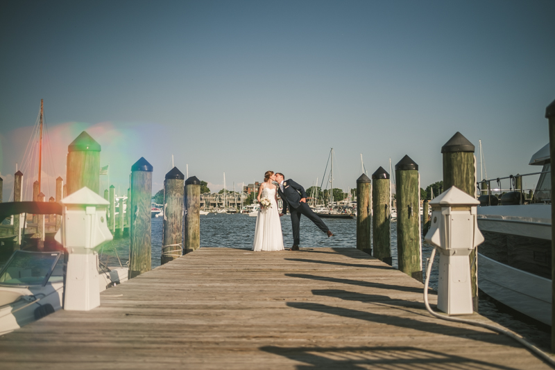 Summer wedding portraits at Downtown Annapolis by Britney Clause Photography, wedding photographers in Maryland