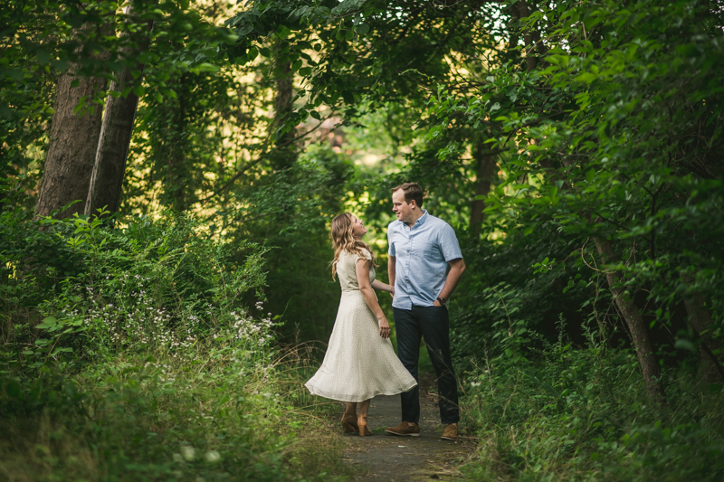 A gorgeous engagement session in Annapolis Maryland at Sherwood Forest by Britney Clause Photography