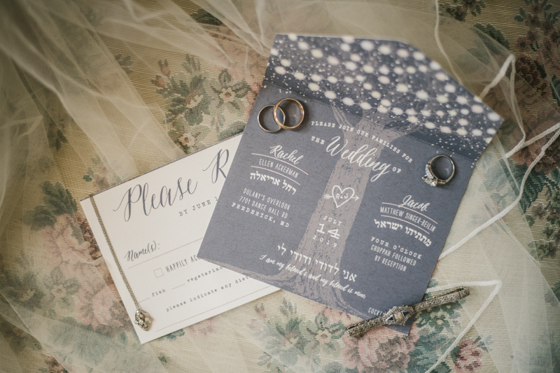 Gorgeous summer wedding stationery by Minted at Dulany's Overlook in Frederick Maryland by Britney Clause Photography, wedding photographers in Maryland.