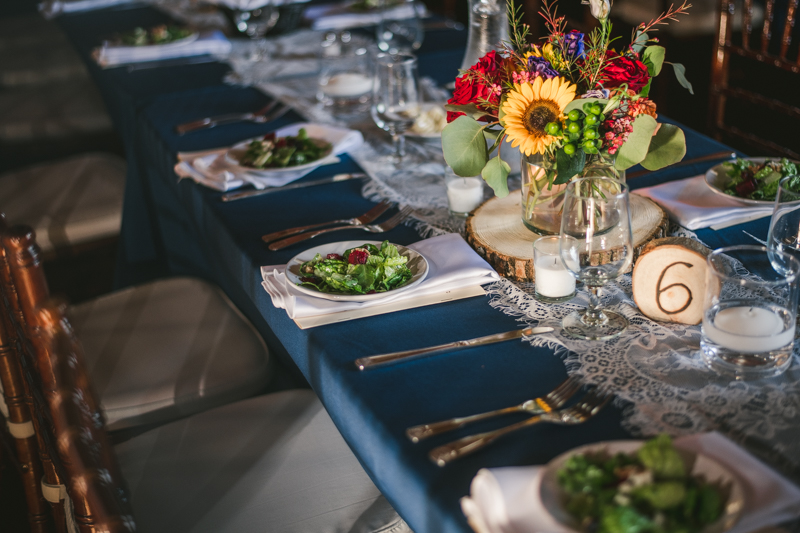 Gorgeous summer wedding food by celebrations catering at Dulany's Overlook in Frederick Maryland by Britney Clause Photography, wedding photographers in Maryland.
