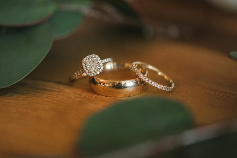 Gorgeous James Allen wedding ring set at Liriodendron Mansion in Bel Air, Maryland by Britney Clause Photography