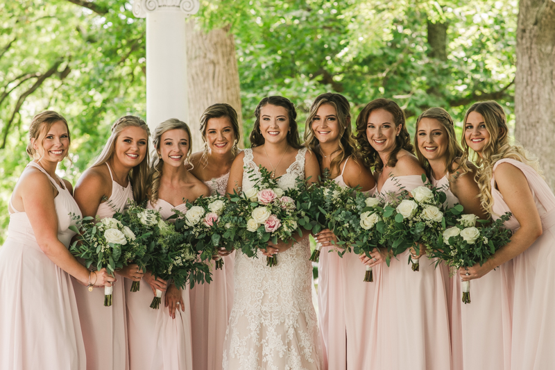 A gorgeous August wedding at Liriodendron Mansion in Bel Air, Maryland by Britney Clause Photography