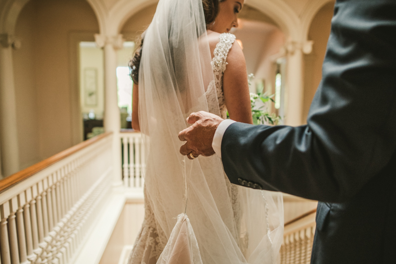 A gorgeous August wedding ceremony at Liriodendron Mansion in Bel Air, Maryland by Britney Clause Photography