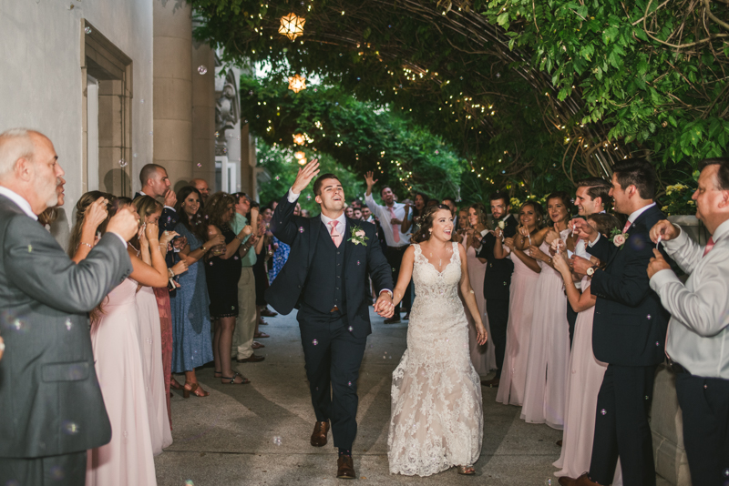 A gorgeous August wedding reception at Liriodendron Mansion in Bel Air, Maryland by Britney Clause Photography