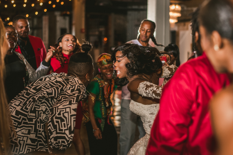 Beautiful wedding reception Main Street Ballroom in Ellicott City by Britney Clause Photography