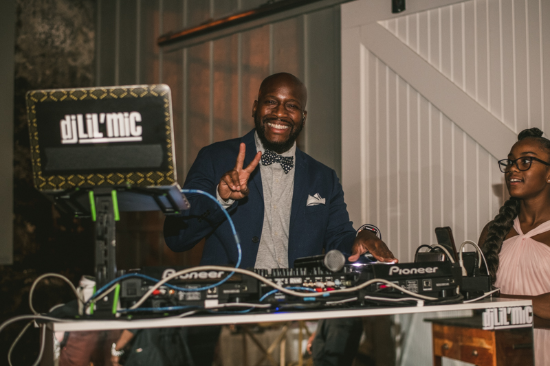 Beautiful wedding reception by DJ Lil Mic Main Street Ballroom in Ellicott City by Britney Clause Photography