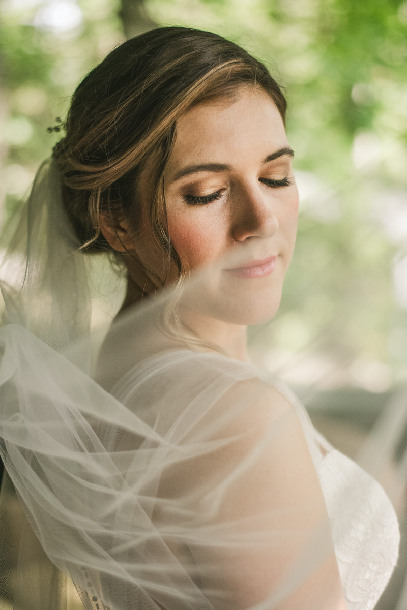 Beautiful bridal veil portraits at Sherwood Forest Clubhouse in Annapolis, Maryland by Britney Clause Photography