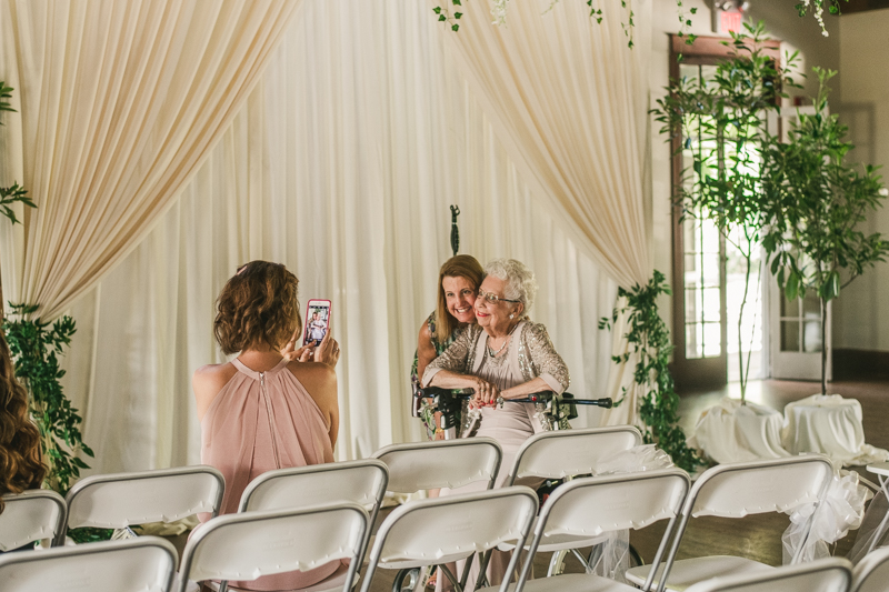 A beautiful September wedding ceremony at the Sherwood Forest Clubhouse in Annapolis, Maryland by Britney Clause Photography