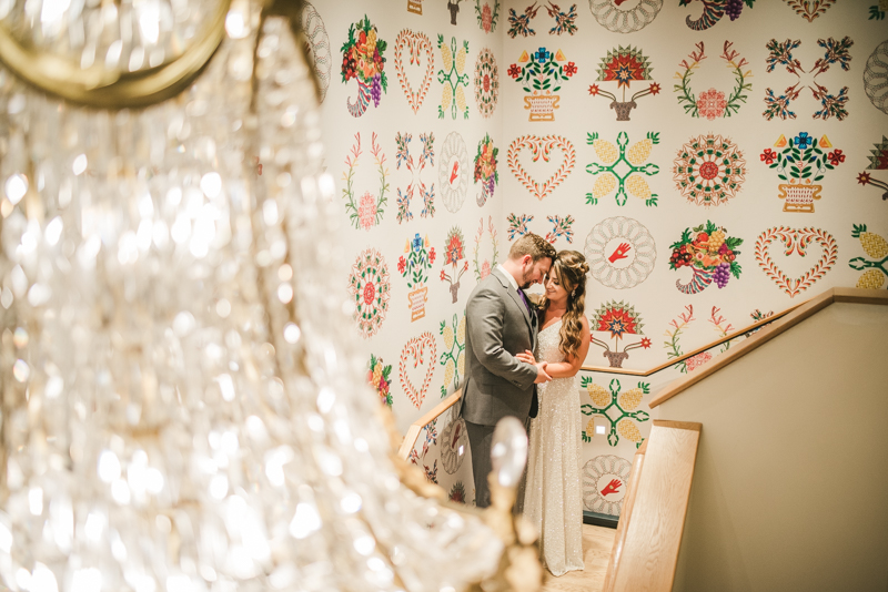 Beautiful bride and groom portraits in Mount Vernon, Maryland at the Hotel Revival by Britney Clause Photography