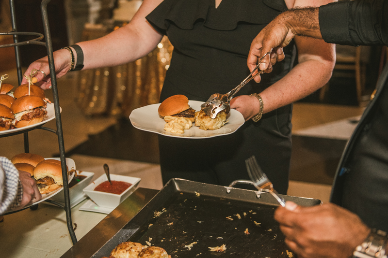 Delicious wedding food by Classic Catering at George Peabody Library in Mount Vernon, Maryland by Britney Clause Photography
