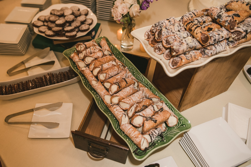 A delicious wedding desserts by Classic Catering at George Peabody Library in Mount Vernon, Maryland by Britney Clause Photography