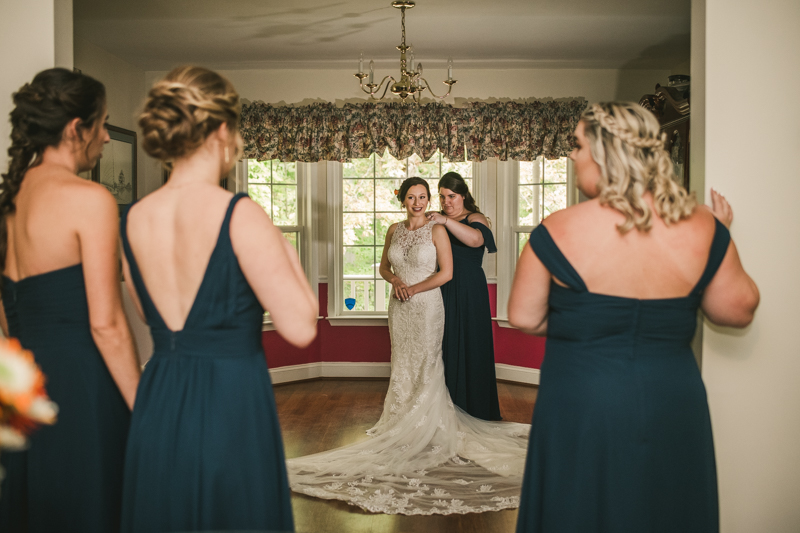 Gorgeous wedding dress from Serendipity Bridal and Events in Maryland. Photo by Britney Clause Photography