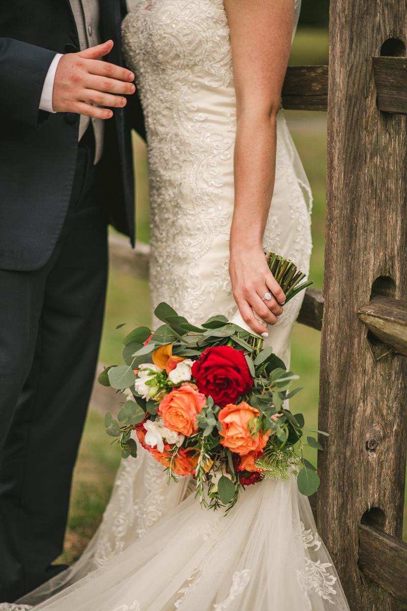Beautiful fall wedding bouquet by Cache Fleur in Maryland . Photo by Britney Clause Photography