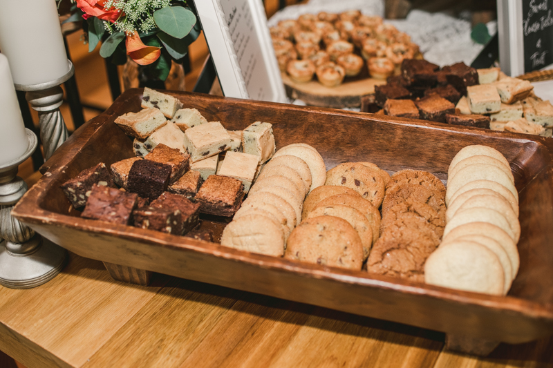 Yummy food at a gorgeous fall wedding by The Palate Pleasers in Maryland. Photo by Britney Clause Photography