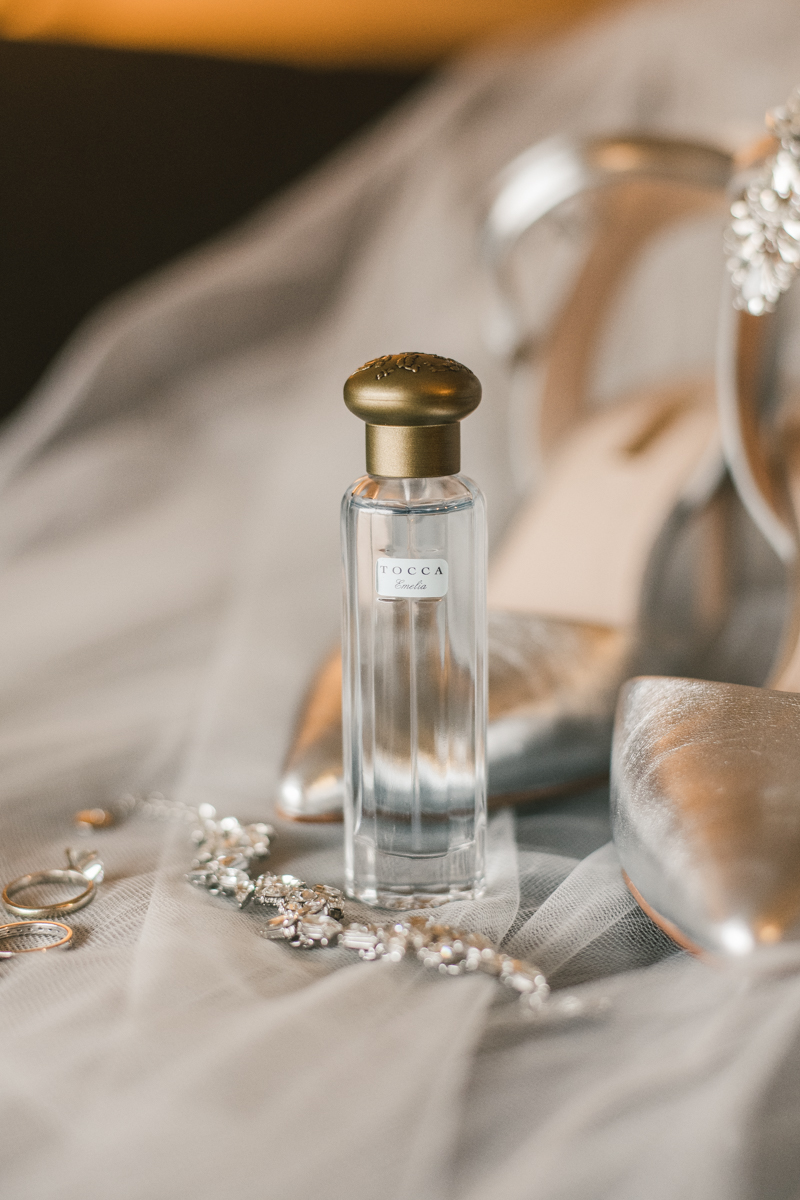 Gorgeous Olive + Piper wedding jewelry at Mt Washington Mill Dye House in Baltimore, Maryland. Captured by Britney Clause Photography