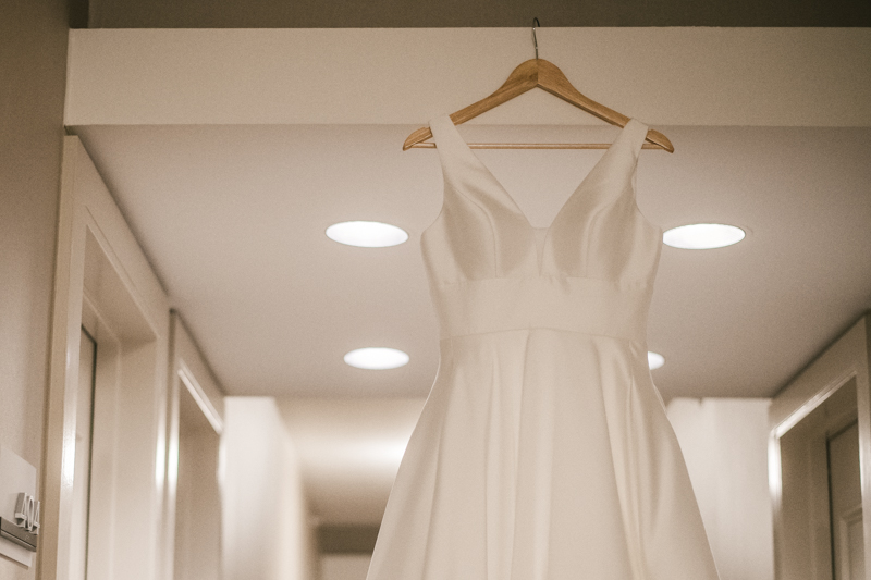 A beautiful wedding dress by Stella York from Garnish Boutique at Mt Washington Mill Dye House in Baltimore, Maryland. Captured by Britney Clause Photography