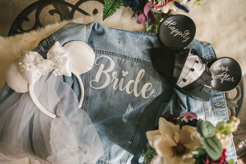 Fabulous wedding day bridal jean jacket. Photo by Britney Clause Photography