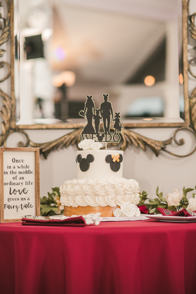 A beautiful Disneyland inspired cake by Two Rivers in Pasadena, Maryland by Britney Clause Photography