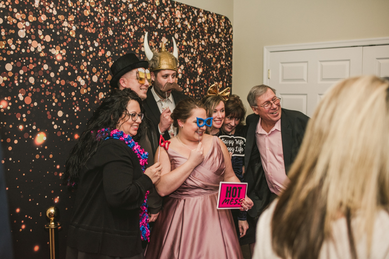 A fun and magical wedding reception with Mirrored Image Photo Booth at Kurtz's Beach in Pasadena, Maryland by Britney Clause Photography