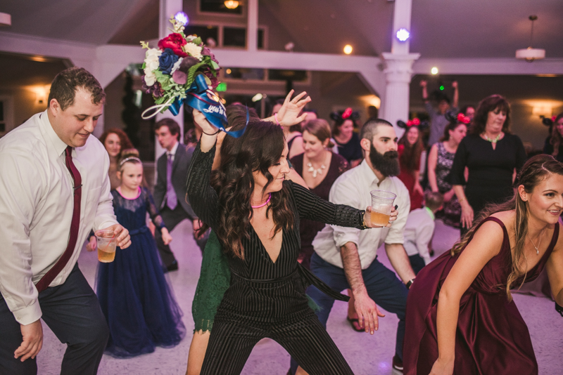 A fun and magical wedding reception at Kurtz's Beach in Pasadena, Maryland by Britney Clause Photography