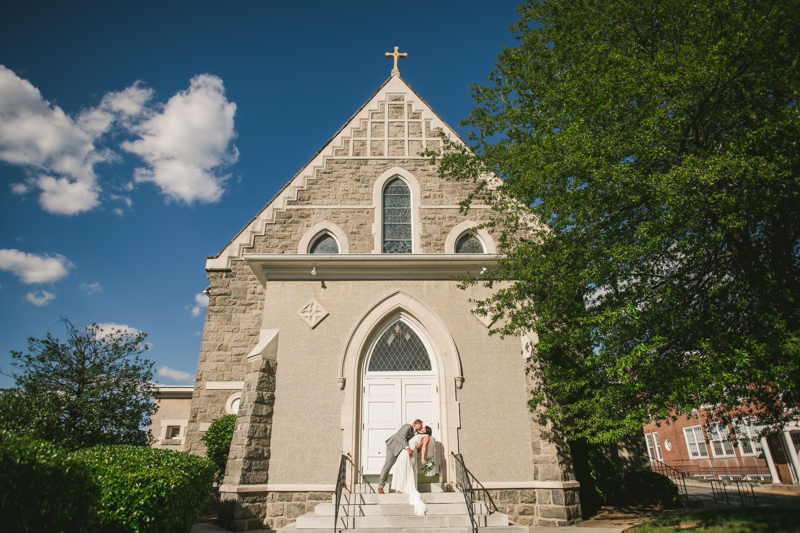 A gorgeous Catonsville wedding ceremony at St. Mark Church by Britney Clause Photography