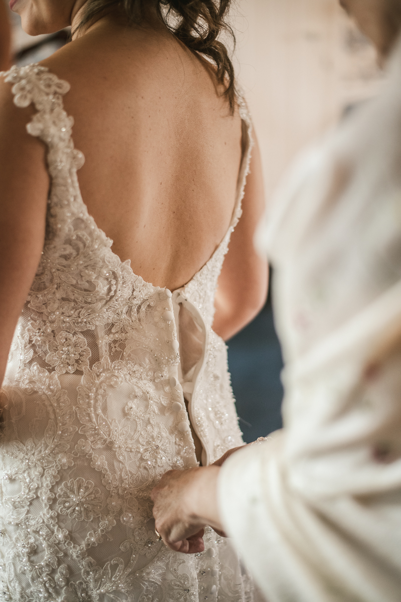 A bride getting ready for her wedding in Taneytown, Maryland by Britney Clause Photography