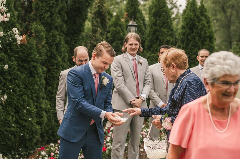A gorgeous wedding ceremony at Antrim 1844 in Taneytown, Maryland by Britney Clause Photography