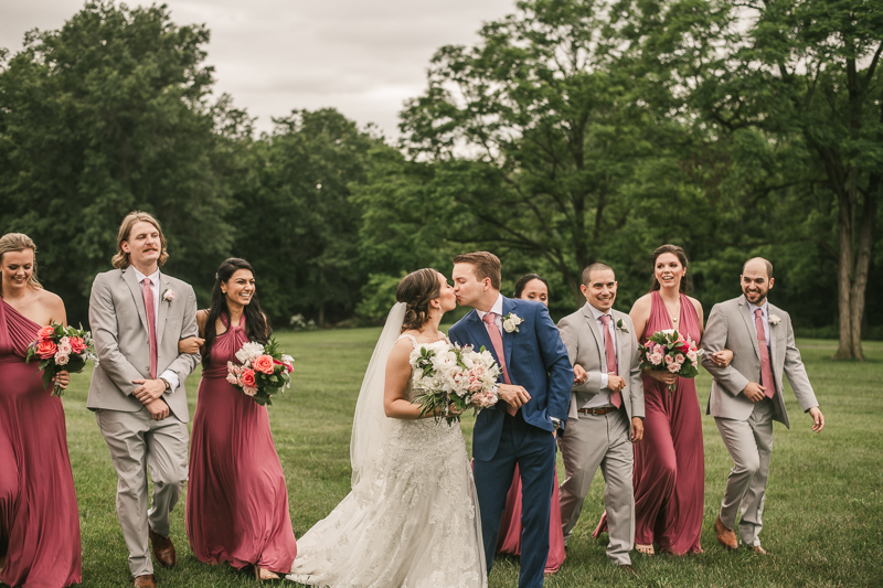 Fun and stylish bridal party photos at Antrim 1844 in Taneytown, Maryland by Britney Clause Photography