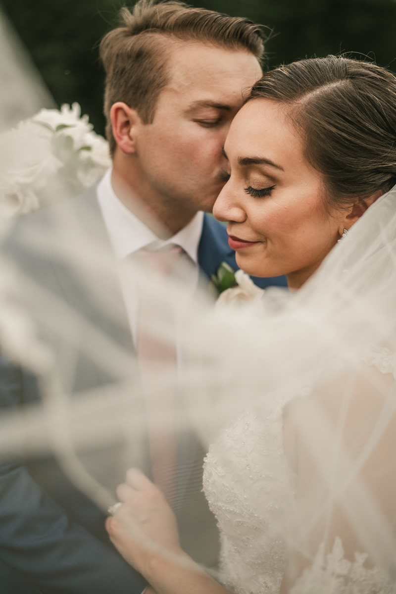 Gorgeous wedding portraits of the bride and groom at Antrim 1844 in Taneytown, Maryland by Britney Clause Photography