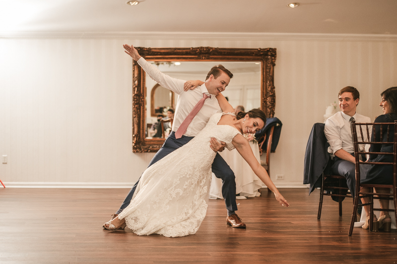 A choreographed first dance at Antrim 1844 in Taneytown, Maryland by Britney Clause Photography