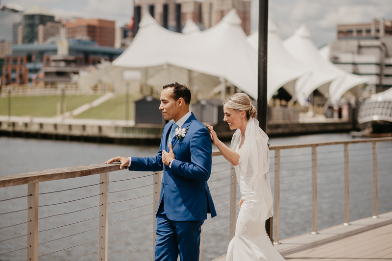 A gorgeous first look at the Baltimore Inner Harbor by Britney Clause Photography