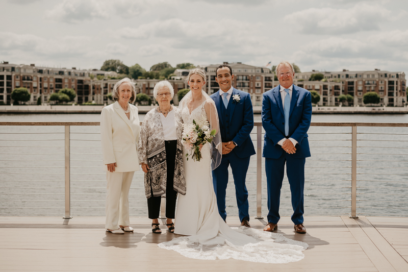 A summer wedding in July at The Winslow in Baltimore, Maryland by Britney Clause Photography