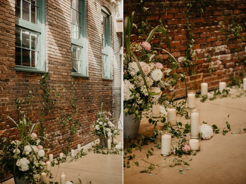 Amazing wedding florals by Floral Impression at The Winslow in Baltimore, Maryland by Britney Clause Photography