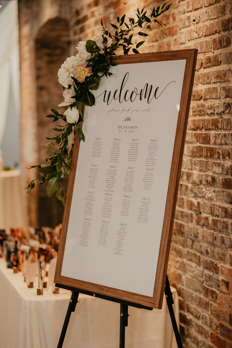 Magical wedding reception decor at The Winslow in Baltimore Maryland by Britney Clause Photography