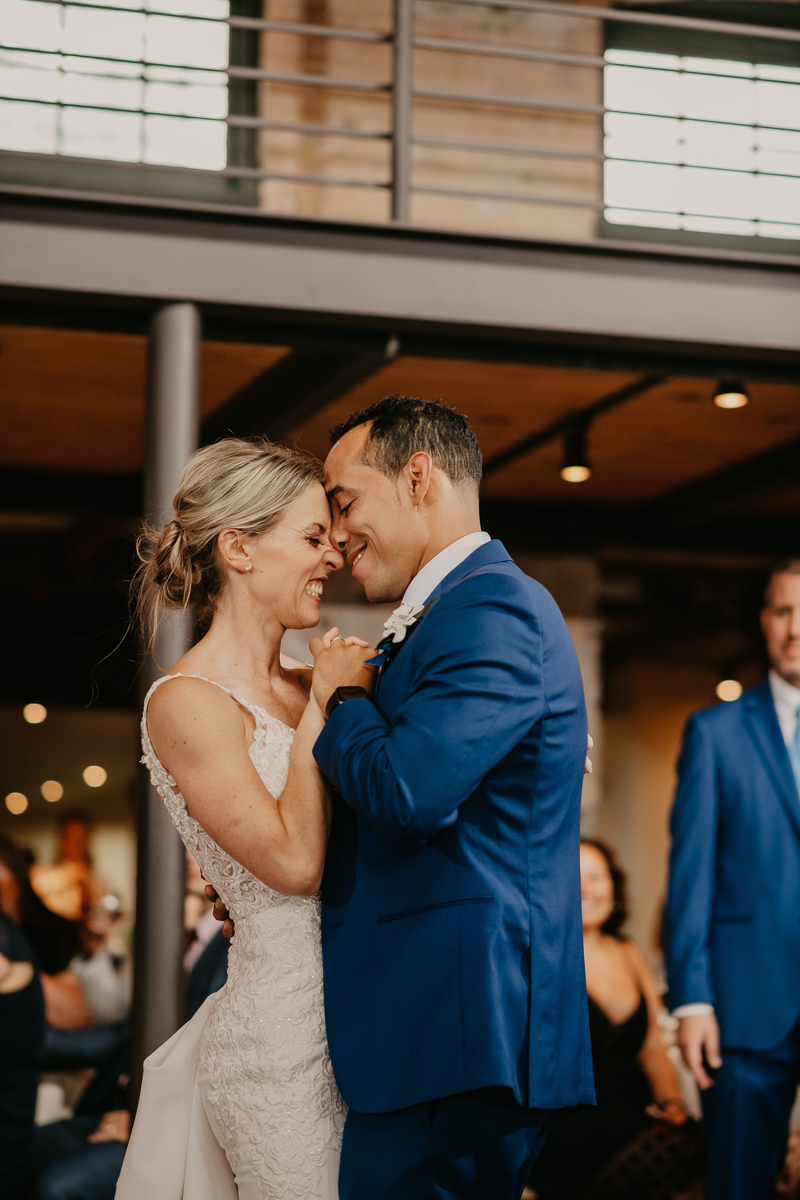 A fun wedding reception at The Winslow in Baltimore, Maryland by Britney Clause Photography