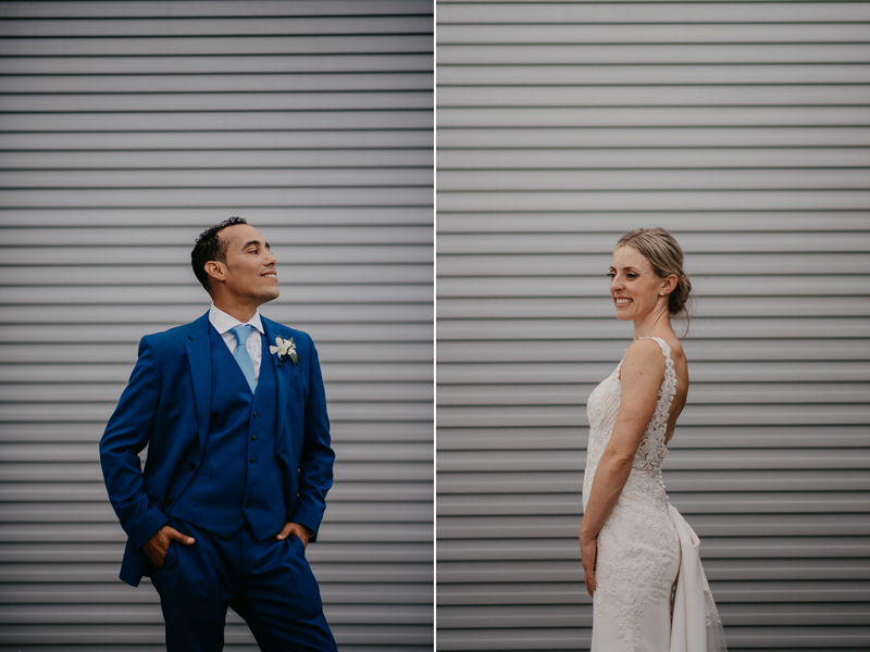 Stunning bride and groom wedding portraits at The Winslow in Baltimore, Maryland by Britney Clause Photography