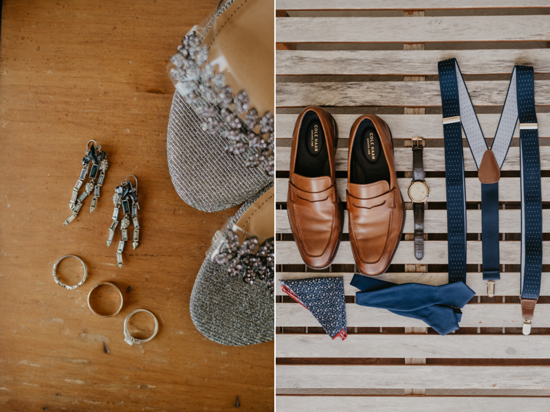 Gorgeous wedding details for a beach wedding in Folly Beach, South Carolina by Britney Clause Photography