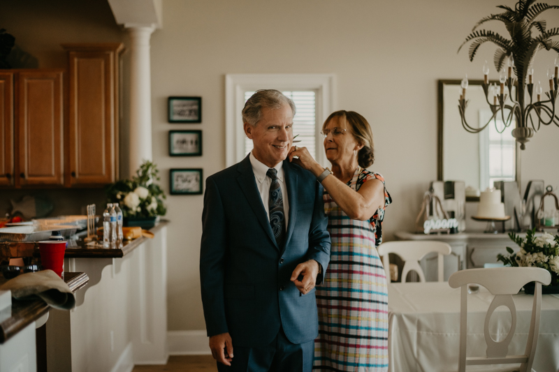A summer beach wedding in July at in Folly Beach, South Carolina by Britney Clause Photography