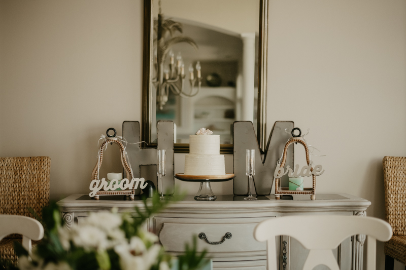 Delicious wedding cake from Charm City Cakes in Folly Beach, South Carolina by Britney Clause Photography